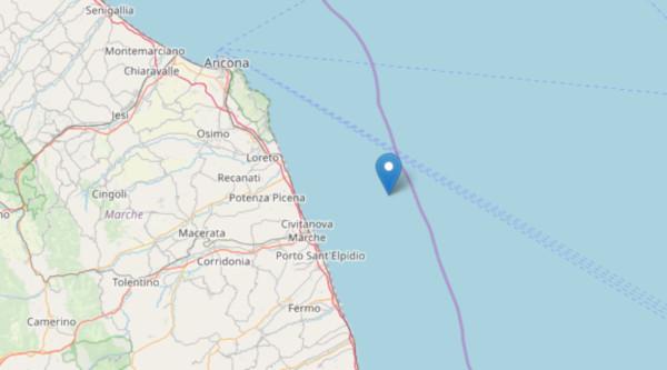 Scossa di magnitudo 3.3 in mare Porto Sant'Elpidio
